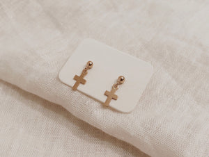 The Tiny Cross Studs