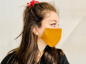 Rusted Mustard Linen Mask