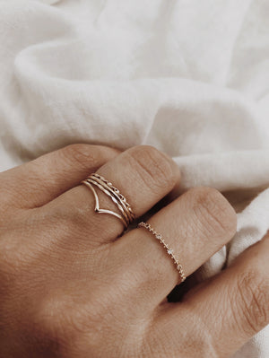 Solid Gold Chevron Band