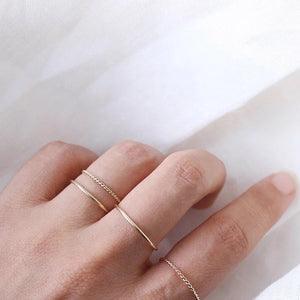 Gold or Rose Twisted Stacking Ring