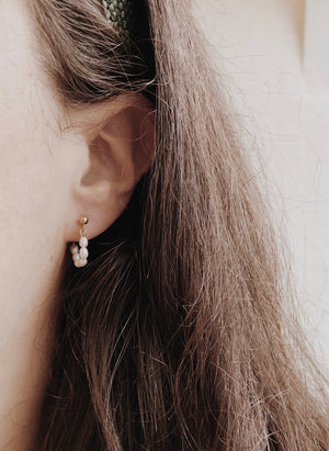 Ball & Pearl Earrings