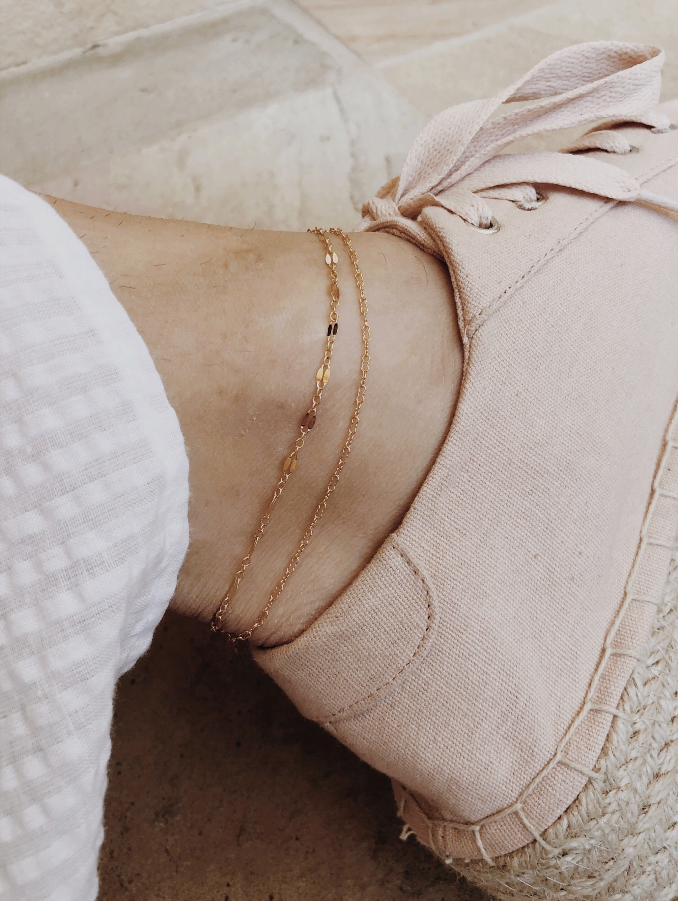 Layered Delicate Anklet