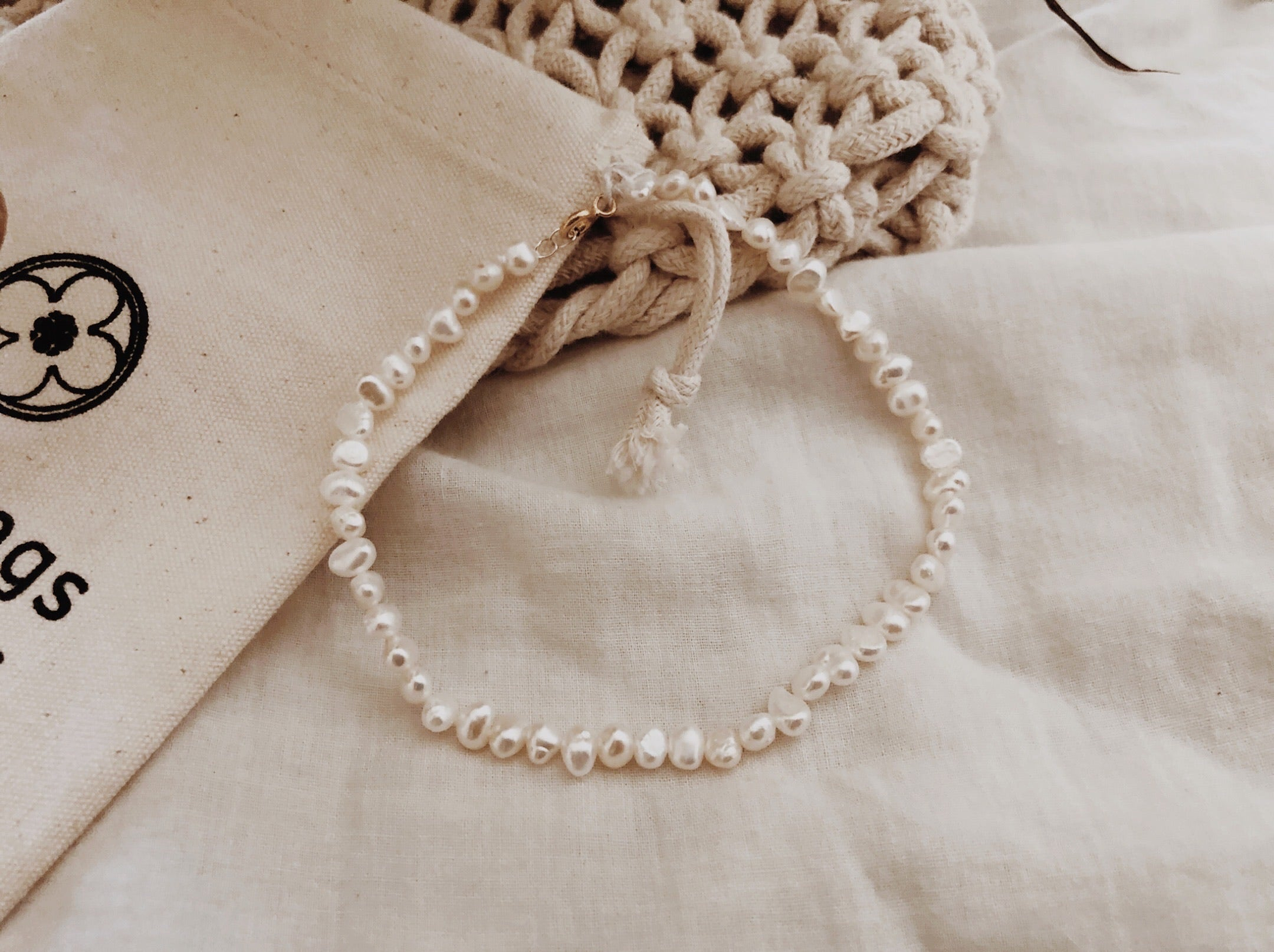 Tiny Pearl Anklet