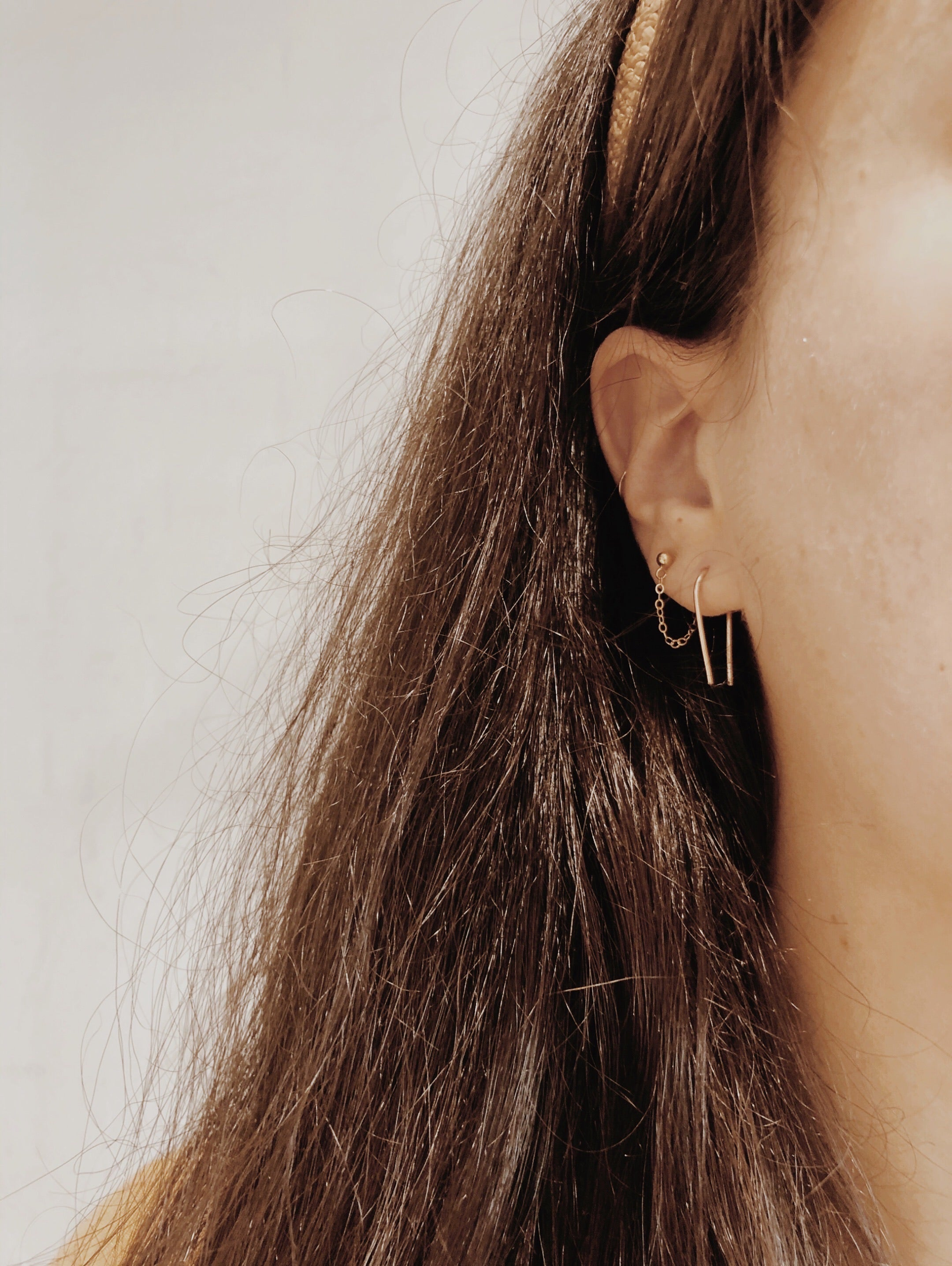 Delicate Hook/Arc Earrings