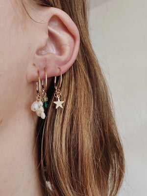 Astrology & Crystal Cluster Earrings