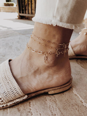Large Linked Anklet