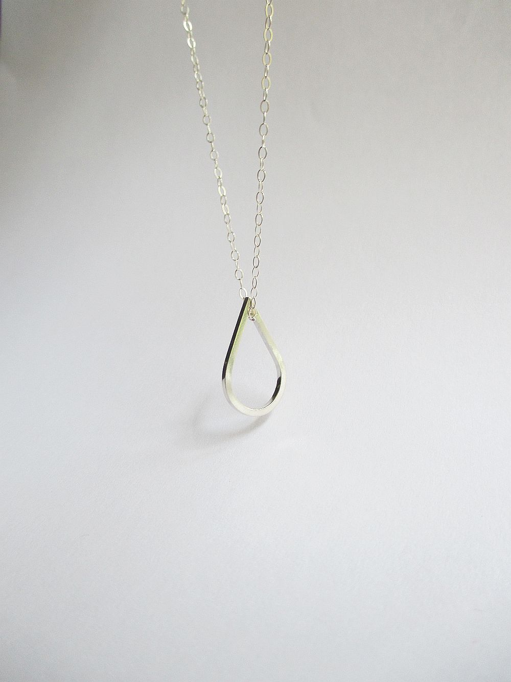 Teardrop Necklace, Silver or Gold