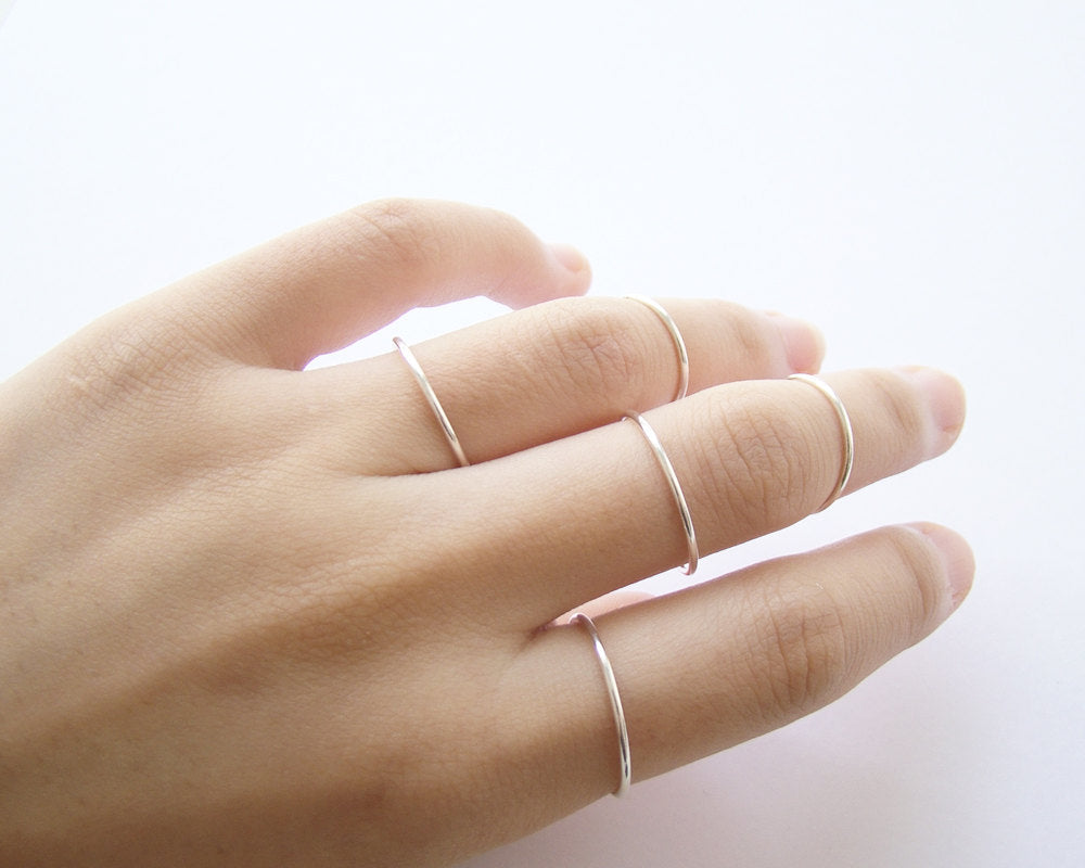 The Smooth Stacking Ring in Sterling Silver
