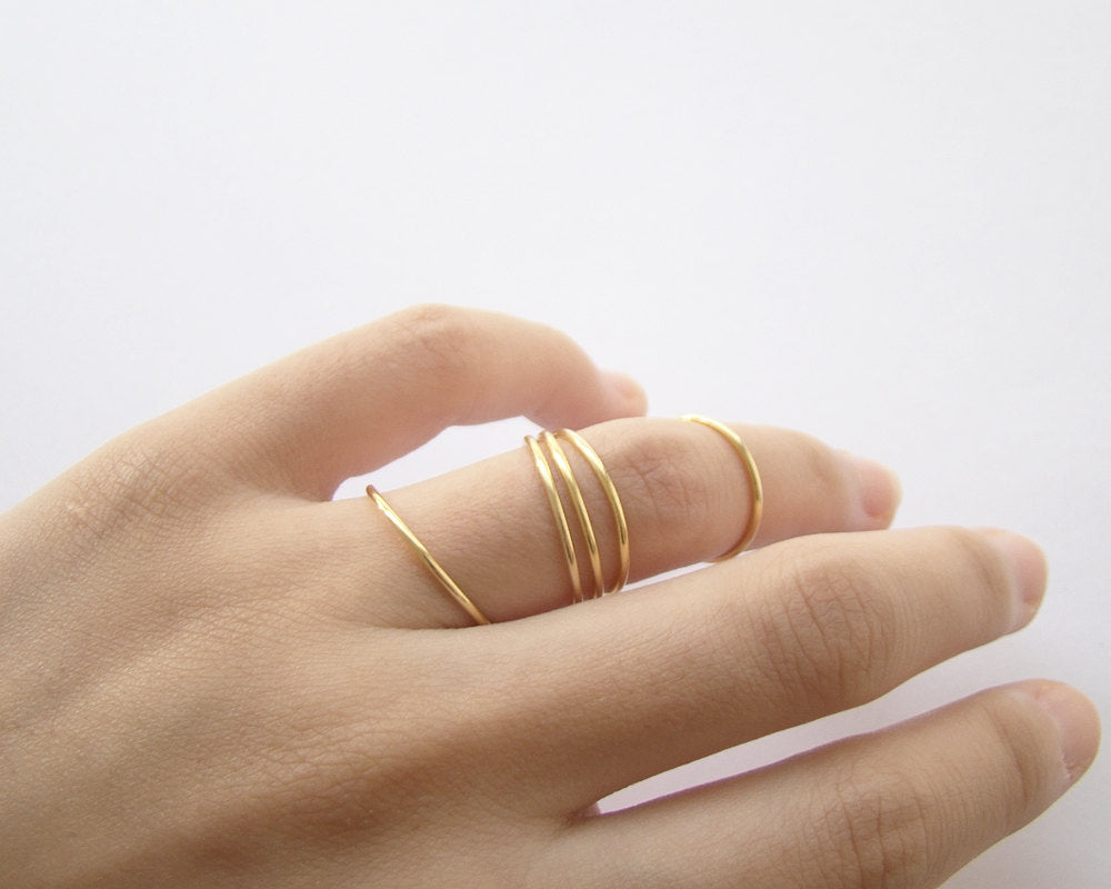 The Smooth Stacking Ring in 14k Yellow Gold Filled