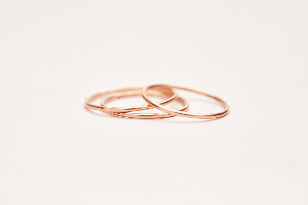 The Smooth Stacking Ring in Rose Gold Filled
