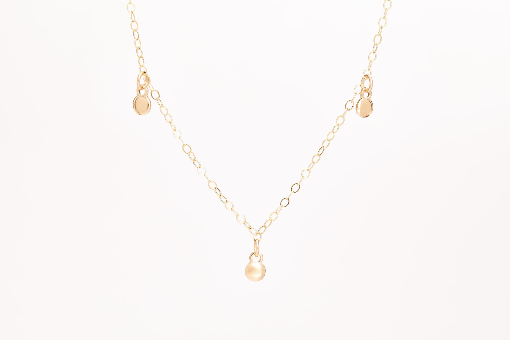 Tiny Coins Necklace Silver/Gold