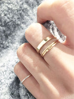 Thick Plain Band in Silver or Gold
