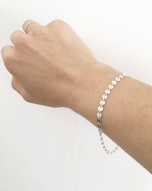 Coin Bracelet in Silver or Gold