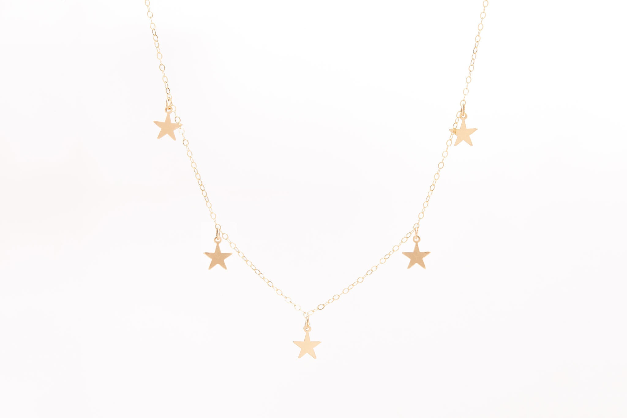 Gold or Silver Stars Necklace