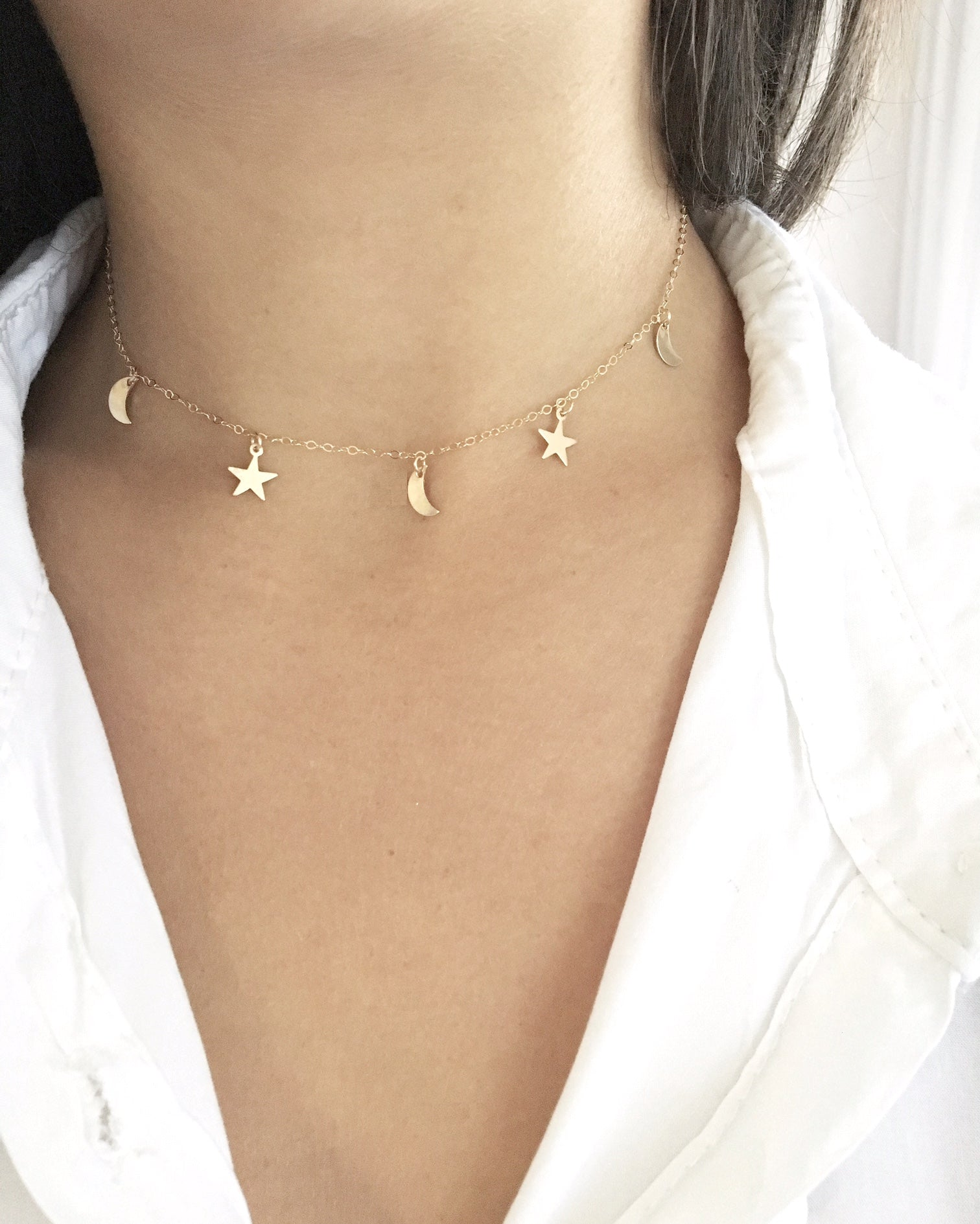 Moon & Stars Necklace