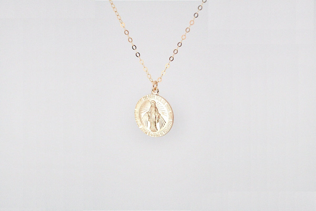 THE CIRCULAR MOTHER MARY MEDALLION