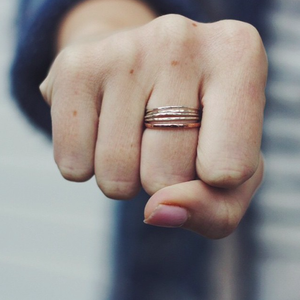 Thicker hammered stacking ring