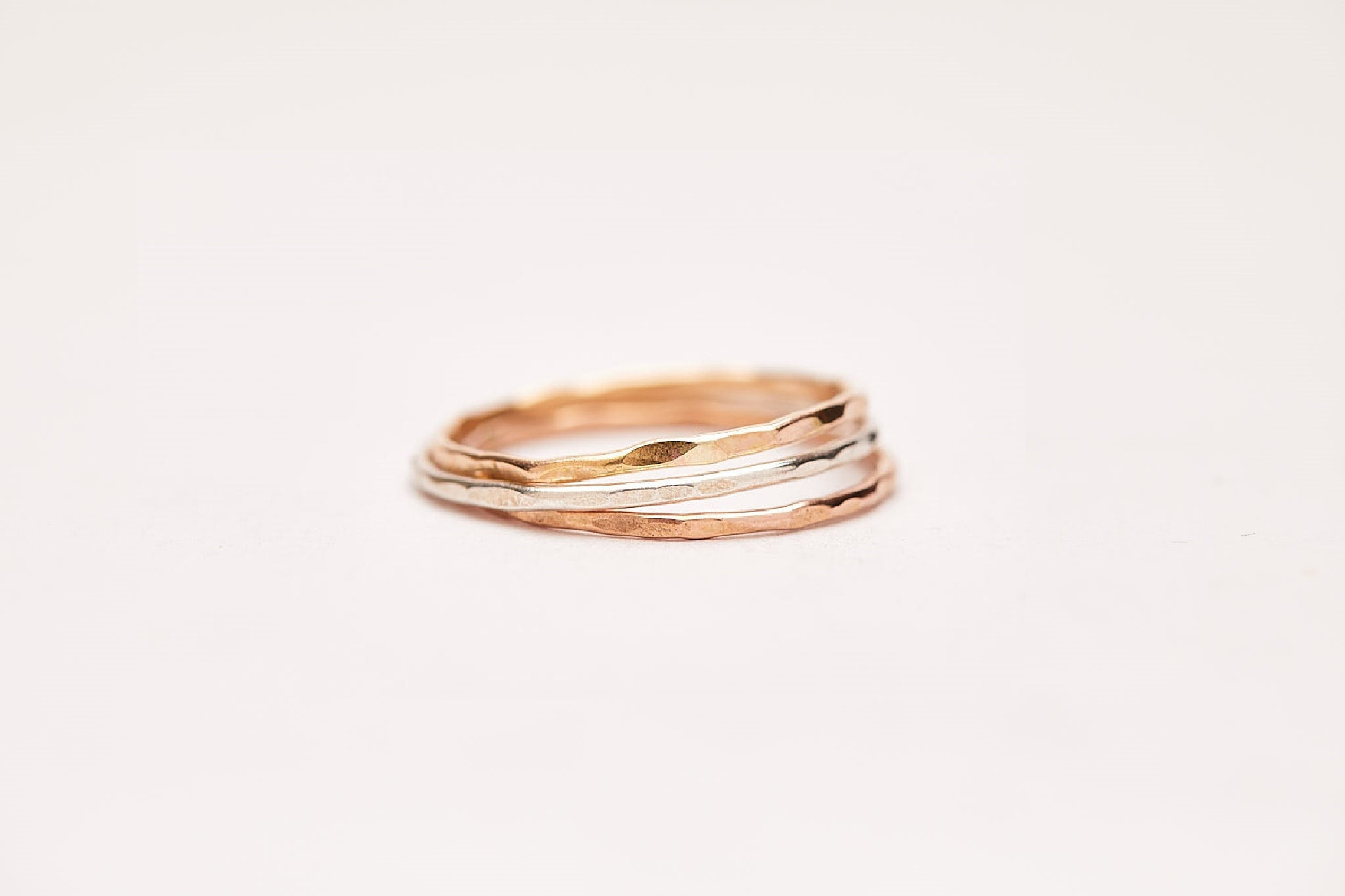 Rose Gold, Sterling Silver and Gold filled fine stacking ring