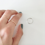 Sterling Silver Twisted Stacking Ring