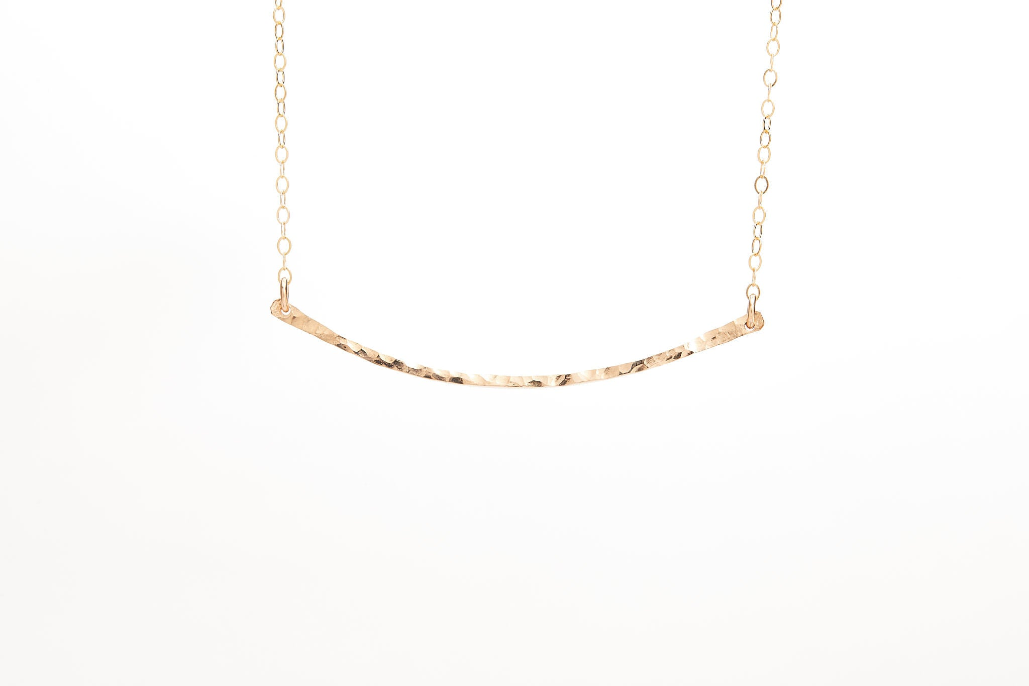 The Hammered Bar Necklace