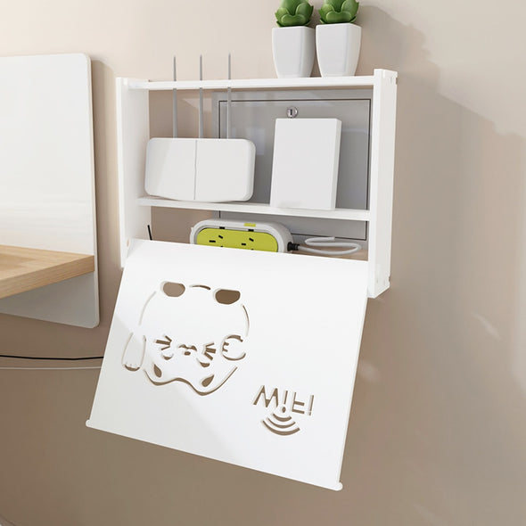 Wifi Router Storage Box Cat