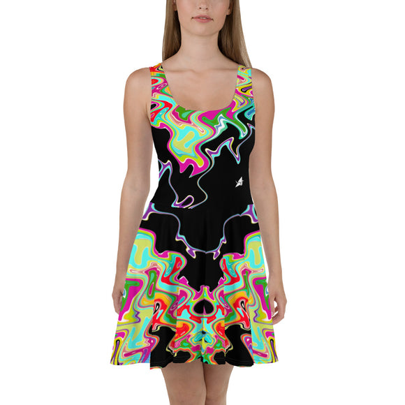 Wavelengths Skater Dress on Black