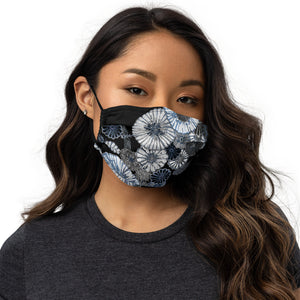 Wildflower Face Mask - Black