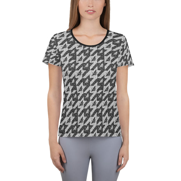 Logo Houndstooth Quick Dry Women's Athletic T-shirt