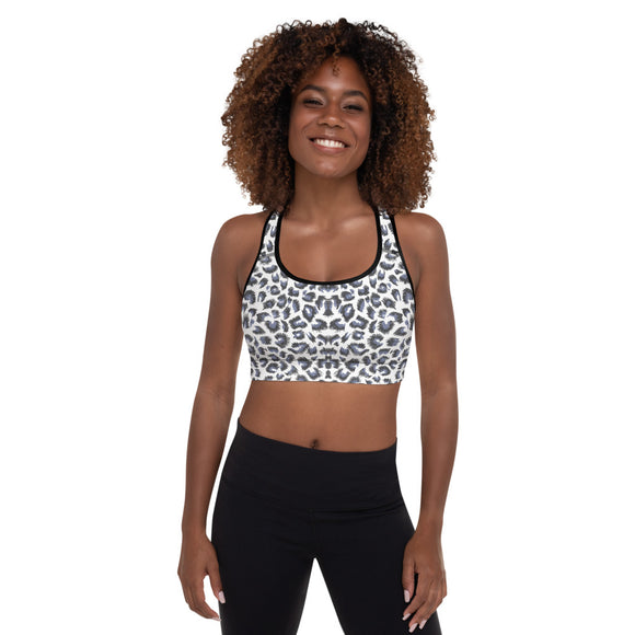 Wild Blue Leopard Sports Bra