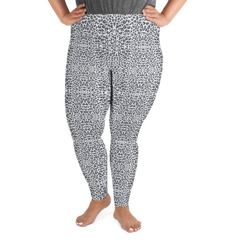 Blue Leopard Plus Size Leggings