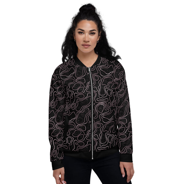 Elevated Amethyst Unisex Bomber Jacket
