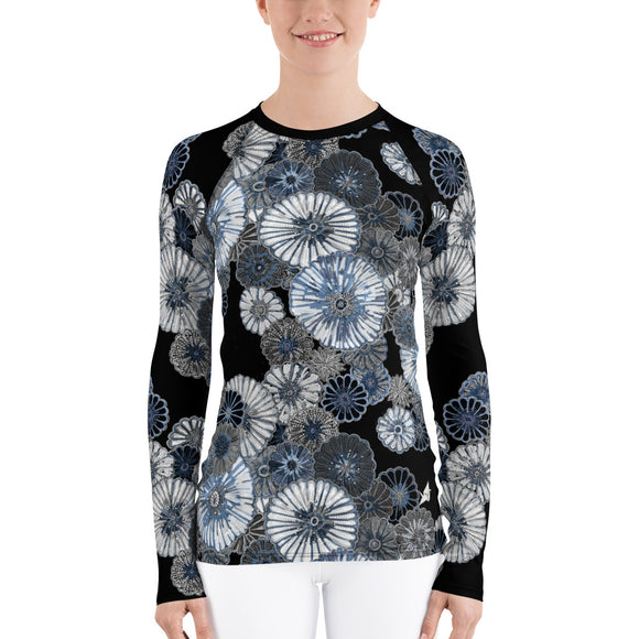 Wildflower Rash Guard in Black