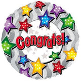 BALLOON CONGRATS STARS 5PC PKG