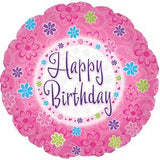 BALLOON PINKISH BIRTHDAY   5PC