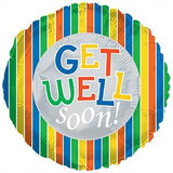 BALLOON GET WELL SOON STRIPE 5PC