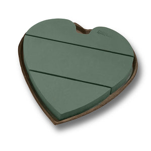 18in  SOLID OASIS  HEART **2PC PKG***