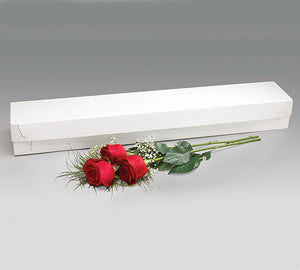 30X5X3.5 WHITE ROSE BOX   50PC CASE