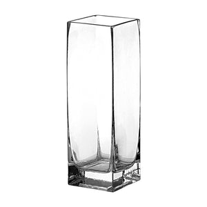 * 11in SQUARE VASE CRYSTAL 6PC  CASE