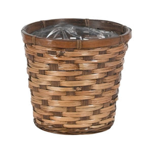 7X6 STAINED RATTAN PLANTER BASKET EACH