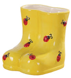 LADY BUG BOOT PLANTER 2PC BOX