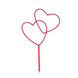 7  DOUBLE OPEN HEART STICK IN RED