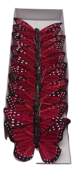 3 BUTTERFLY RED  12PC