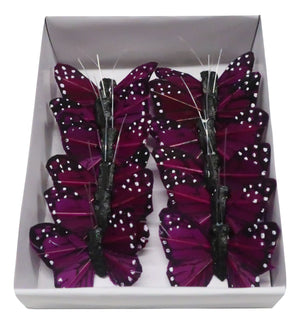 1 BUTTERFLY PURPLE 12PC