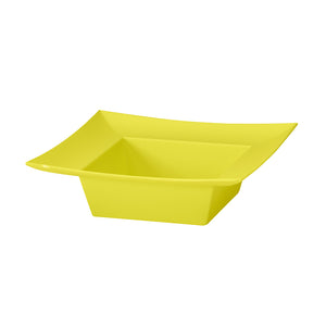 SQUARE BOWL YELLOW   !!! SOLD BY EACH