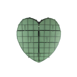 * 12in AQUAFLOAM SOLID HEART **2PC CASE