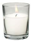 10HR  GLASS VOTIVE W/CANDLE 25PC BOX