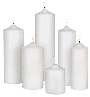 3X6 UNSCENTED PILLAR IVORY EACH