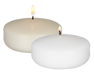 2in  FLOATING CANDLE WHITE 6 PC PKG