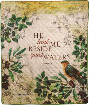 HE LEADS ME BESIDE QUIET WATERS THROW
