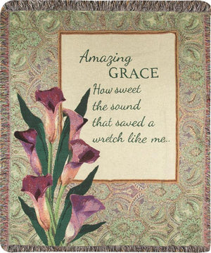 AMAZING GRACE HOW SWEET THE SOUND THROW
